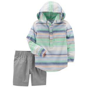 Carter' 2-Pc. Striped Pullover & Short Set, 5T